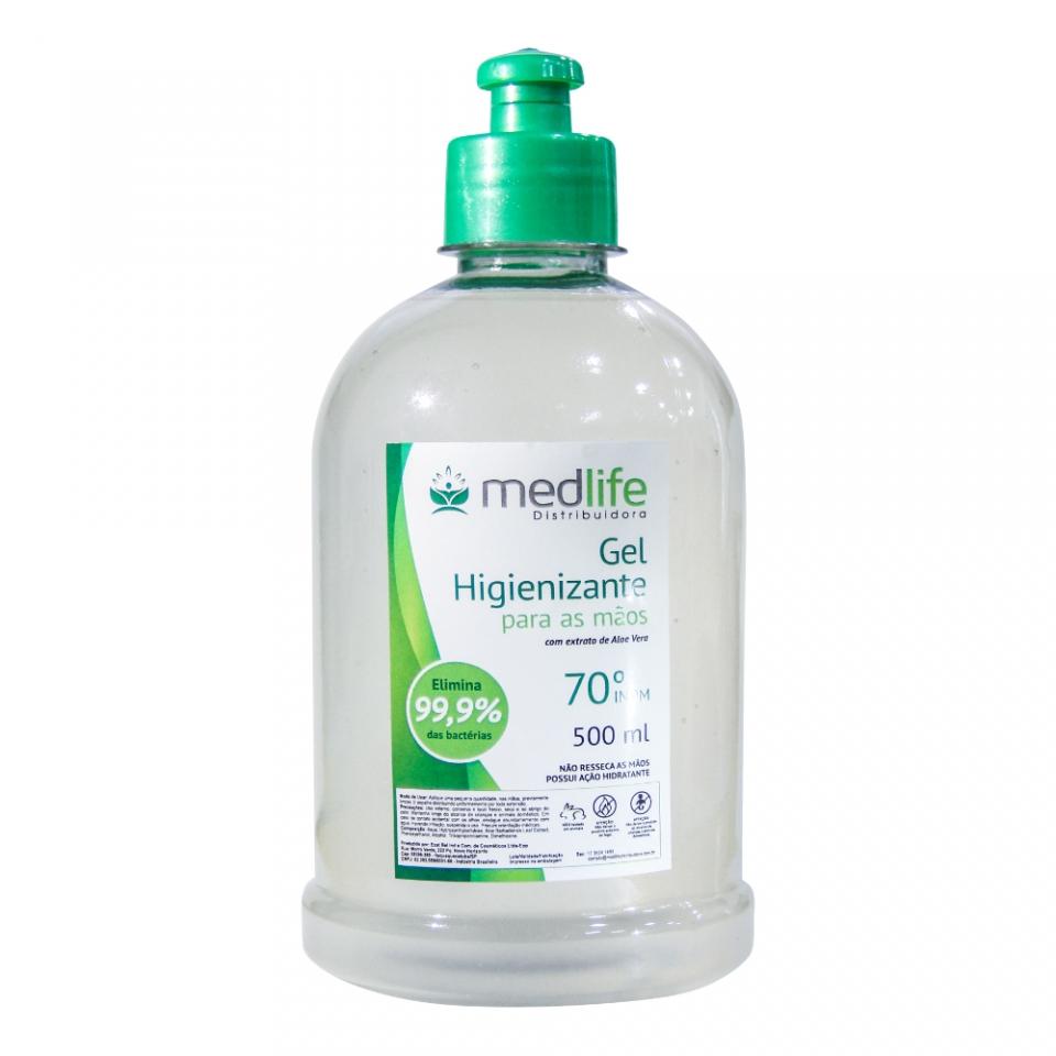 Álcool em Gel - 500ml Sem Válvula - Medlife