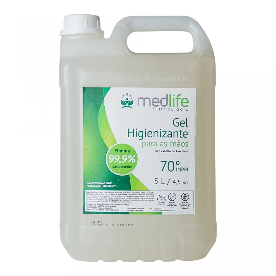 Álcool em Gel - 5 Litros - Medlife